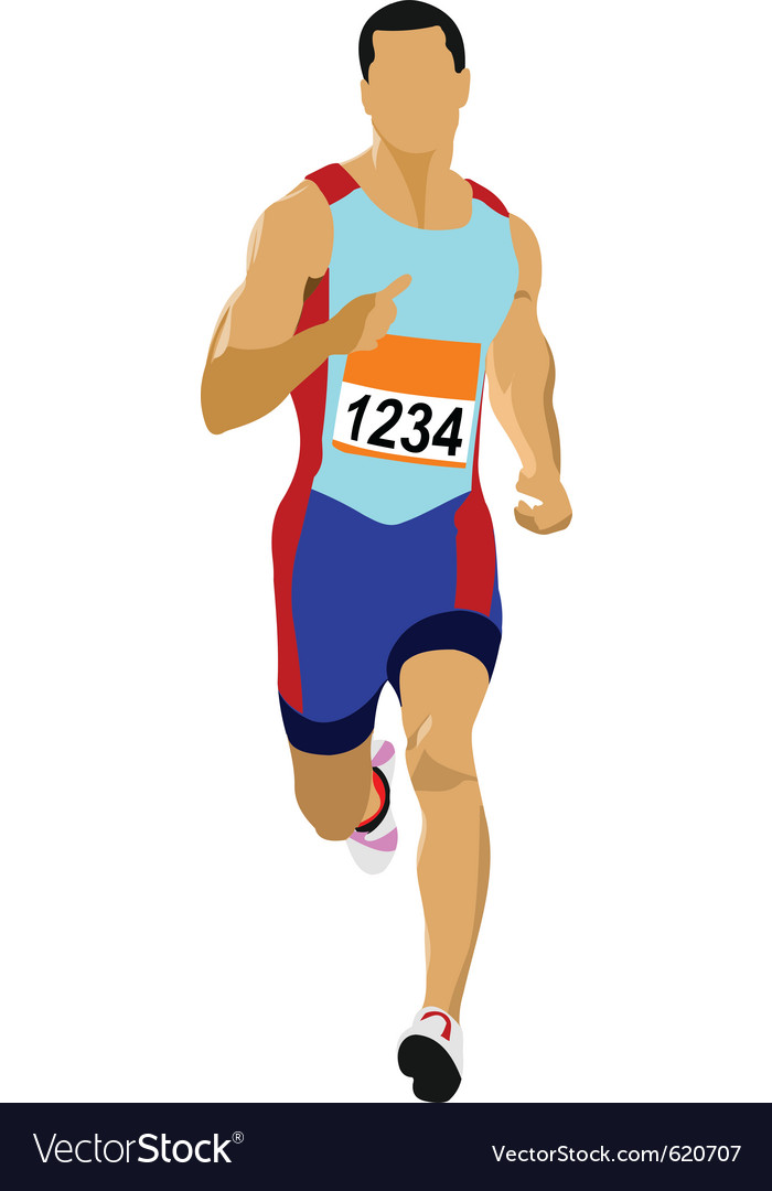 Runner silhouette vector | Price: 1 Credit (USD $1)
