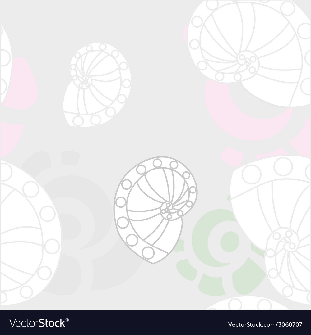 Sea shells background 2 vector | Price: 1 Credit (USD $1)