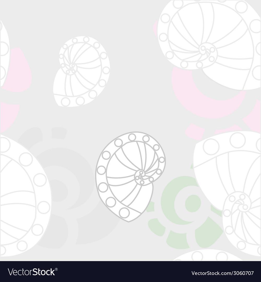 Sea shells background 2 vector | Price: 1 Credit (USD $1)