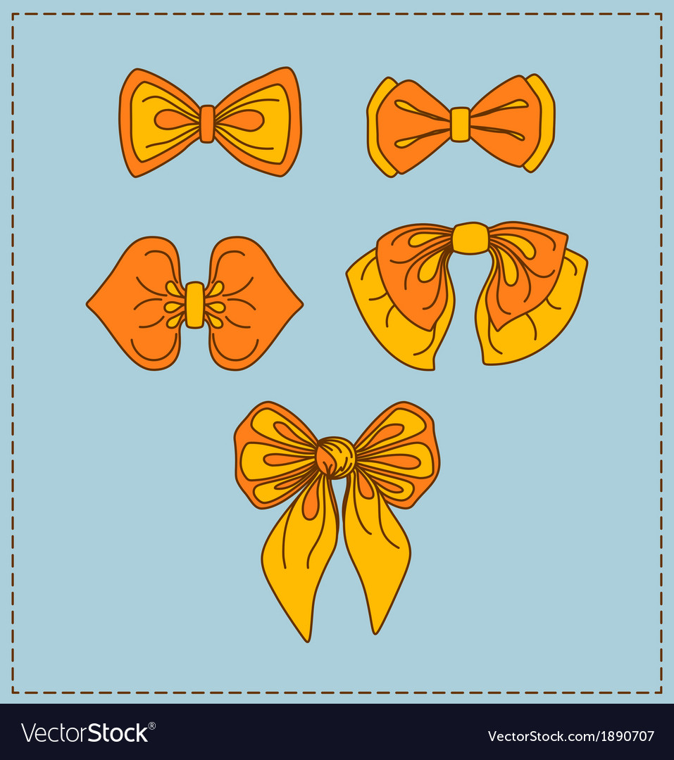 Set of bow ties vector | Price: 1 Credit (USD $1)