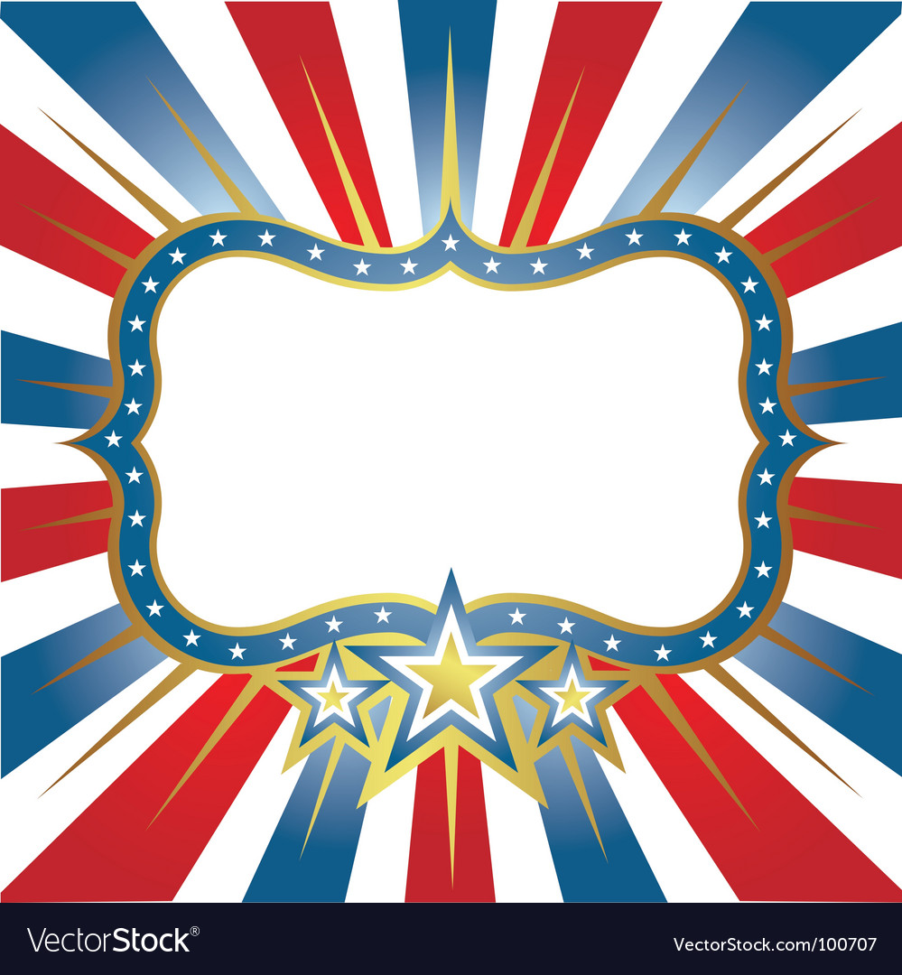 Usa frame vector | Price: 1 Credit (USD $1)