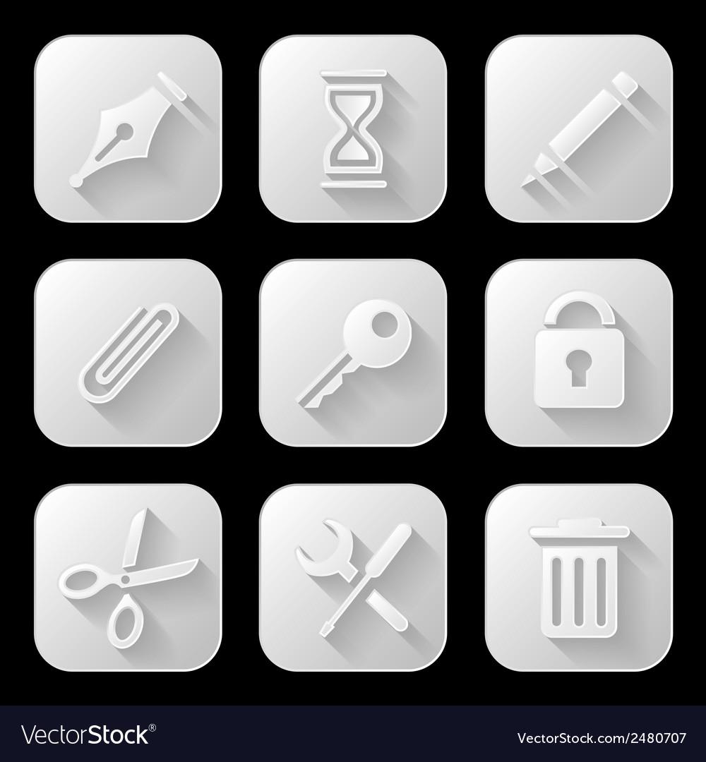 Web icons set vector | Price: 1 Credit (USD $1)