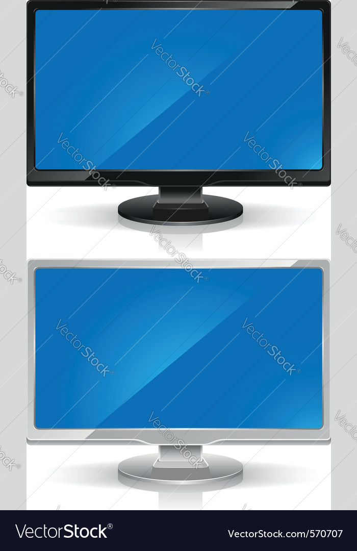 Wide screen lcd monitors vector | Price: 1 Credit (USD $1)