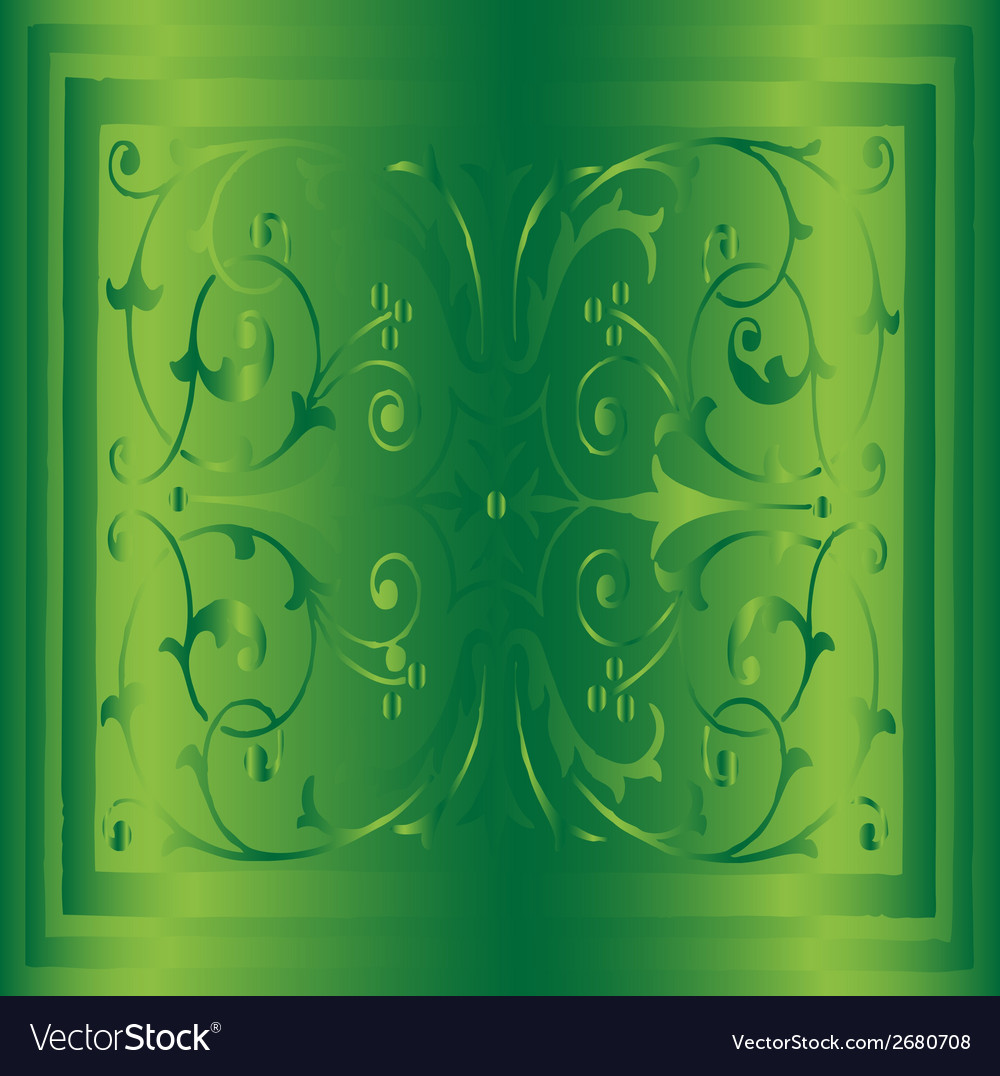 Abstract green background of elegant vintage flora vector | Price: 1 Credit (USD $1)
