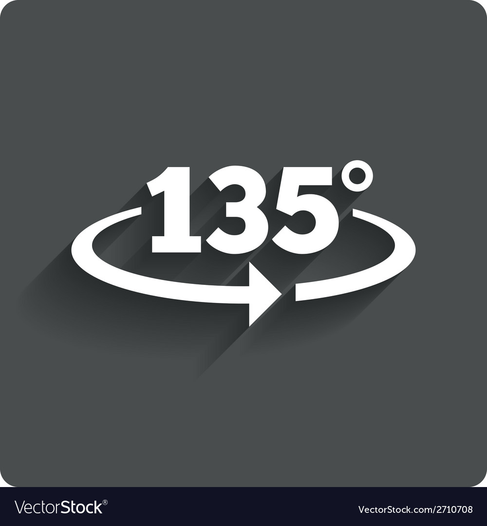 Angle 135 degrees sign icon geometry math symbol vector | Price: 1 Credit (USD $1)