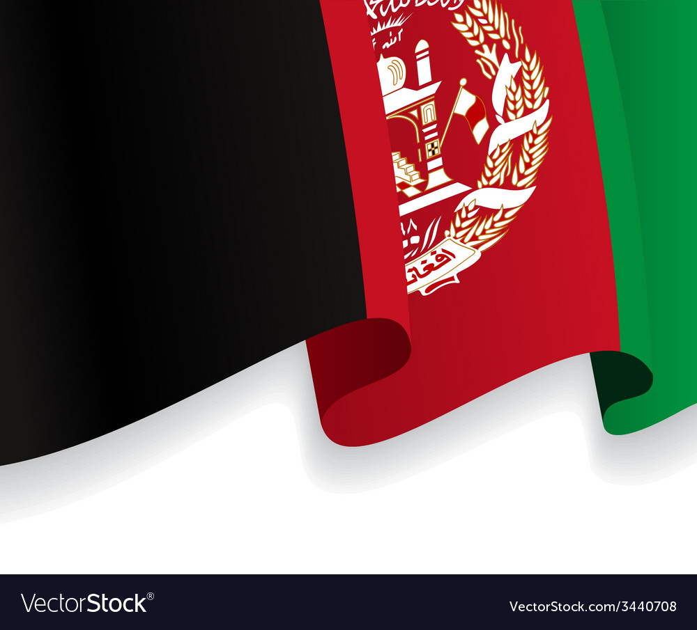 Background with waving afghan flag vector   Price: 1 Credit (USD $1)