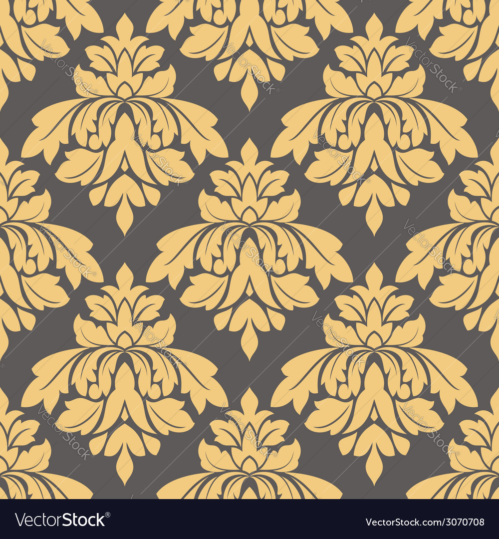Bold arabesque seamless pattern vector | Price: 1 Credit (USD $1)