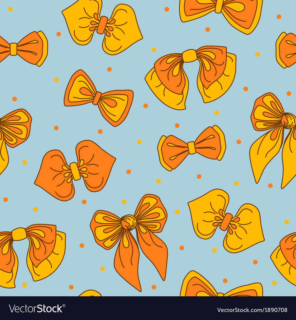 Bow-tie collection seamless pattern vector | Price: 1 Credit (USD $1)