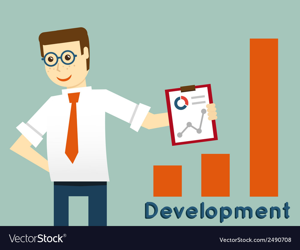 Businessman and development productivity vector | Price: 1 Credit (USD $1)
