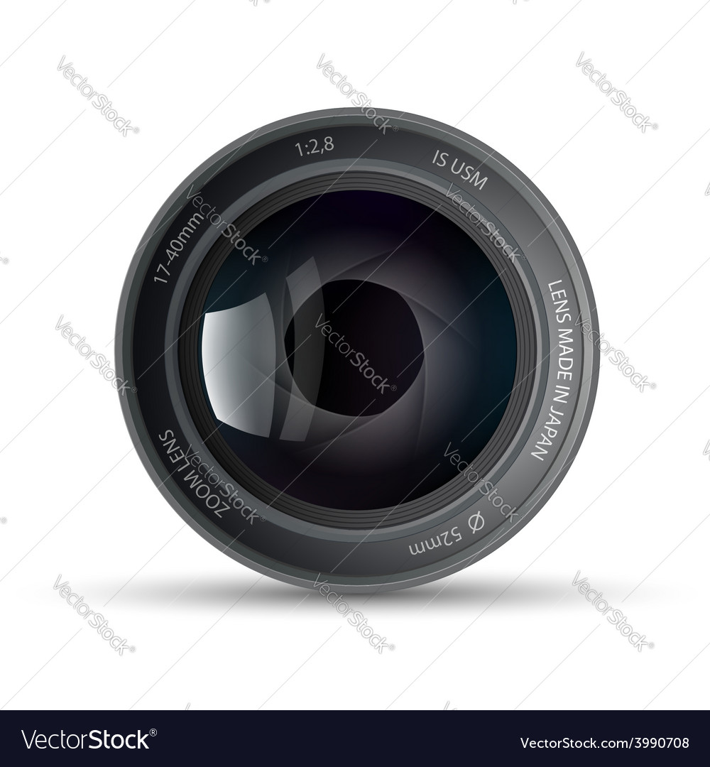 Camera lens vector | Price: 1 Credit (USD $1)