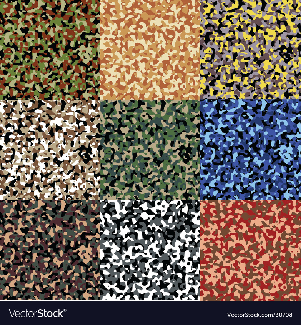 Camouflage set vector | Price: 1 Credit (USD $1)