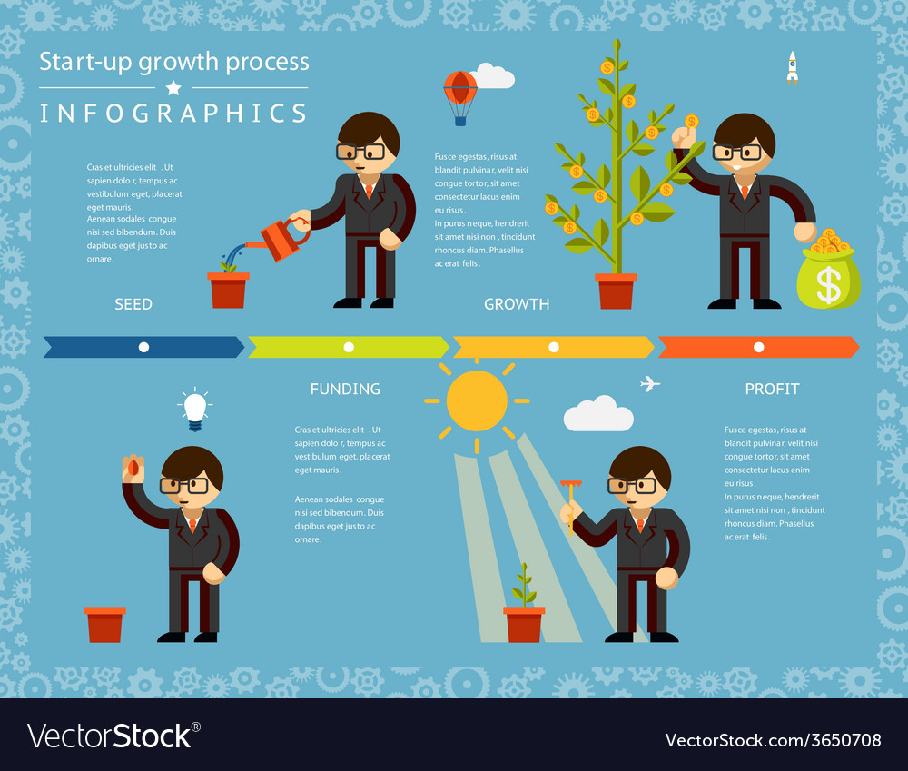 Creative business timeline infographics design vector | Price: 1 Credit (USD $1)