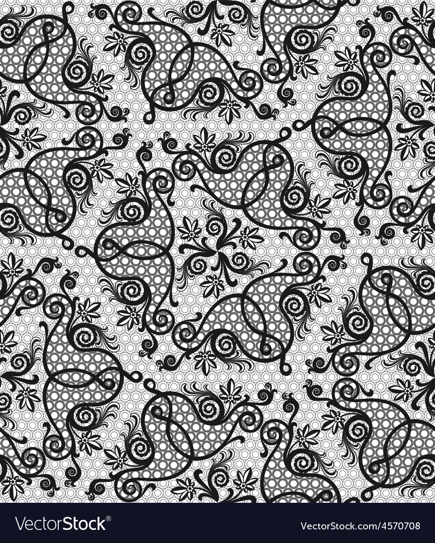Floral seamless lace pattern vector   Price: 1 Credit (USD $1)