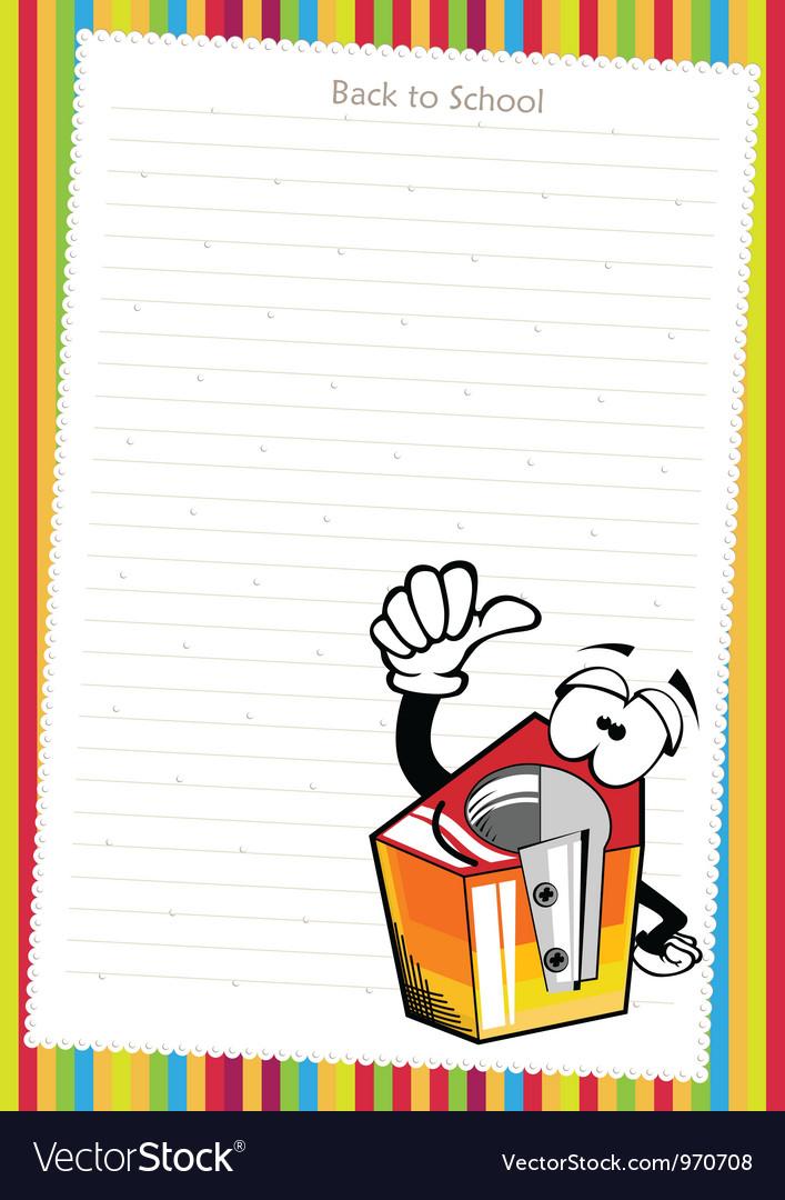 Funny cartoon pencil sharpener vector | Price: 1 Credit (USD $1)