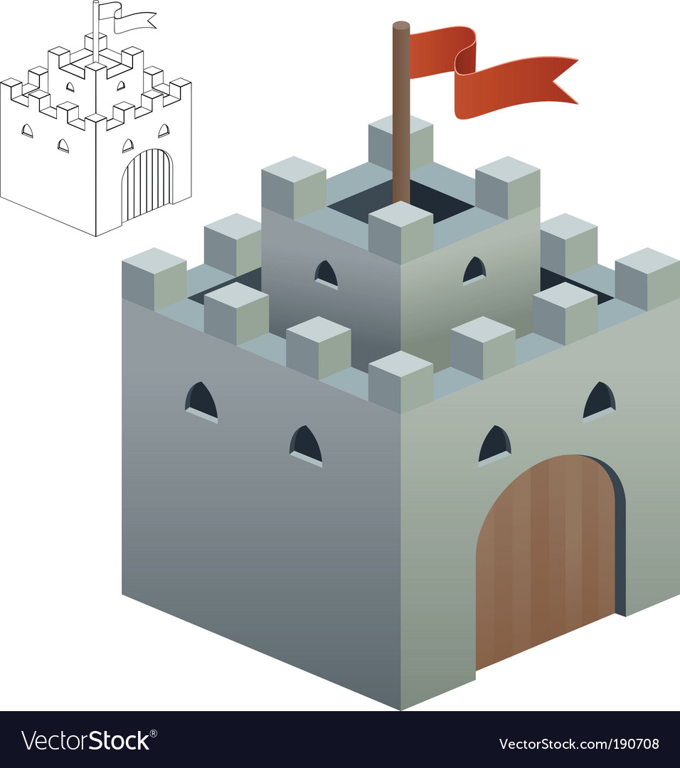Medieval castle or secure keep vector | Price: 1 Credit (USD $1)