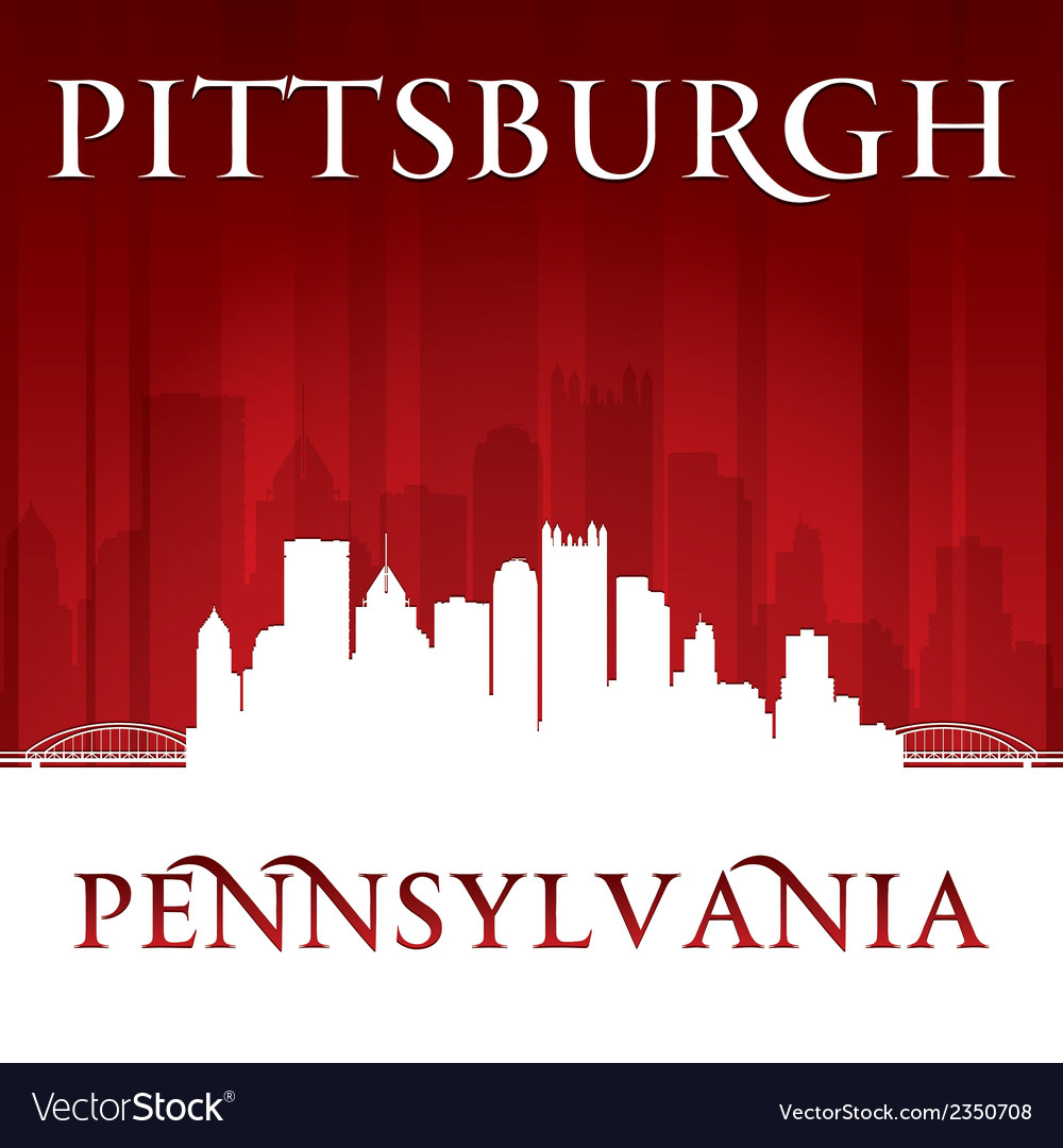 Pittsburgh pennsylvania city skyline silhouette vector | Price: 1 Credit (USD $1)