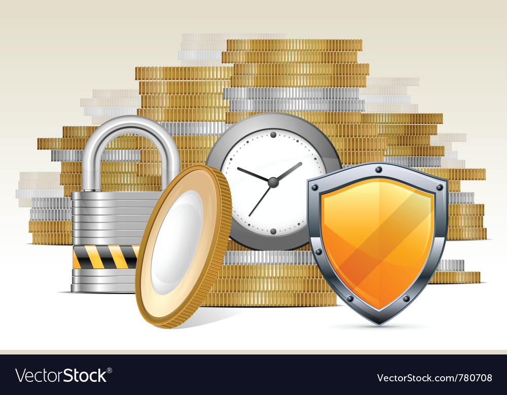 Stacks of gold money coins vector | Price: 3 Credit (USD $3)
