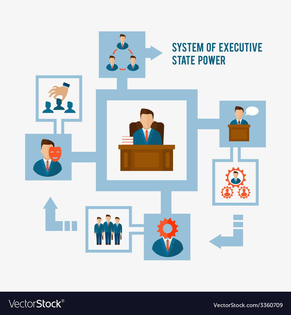 Executive concept flat vector | Price: 1 Credit (USD $1)