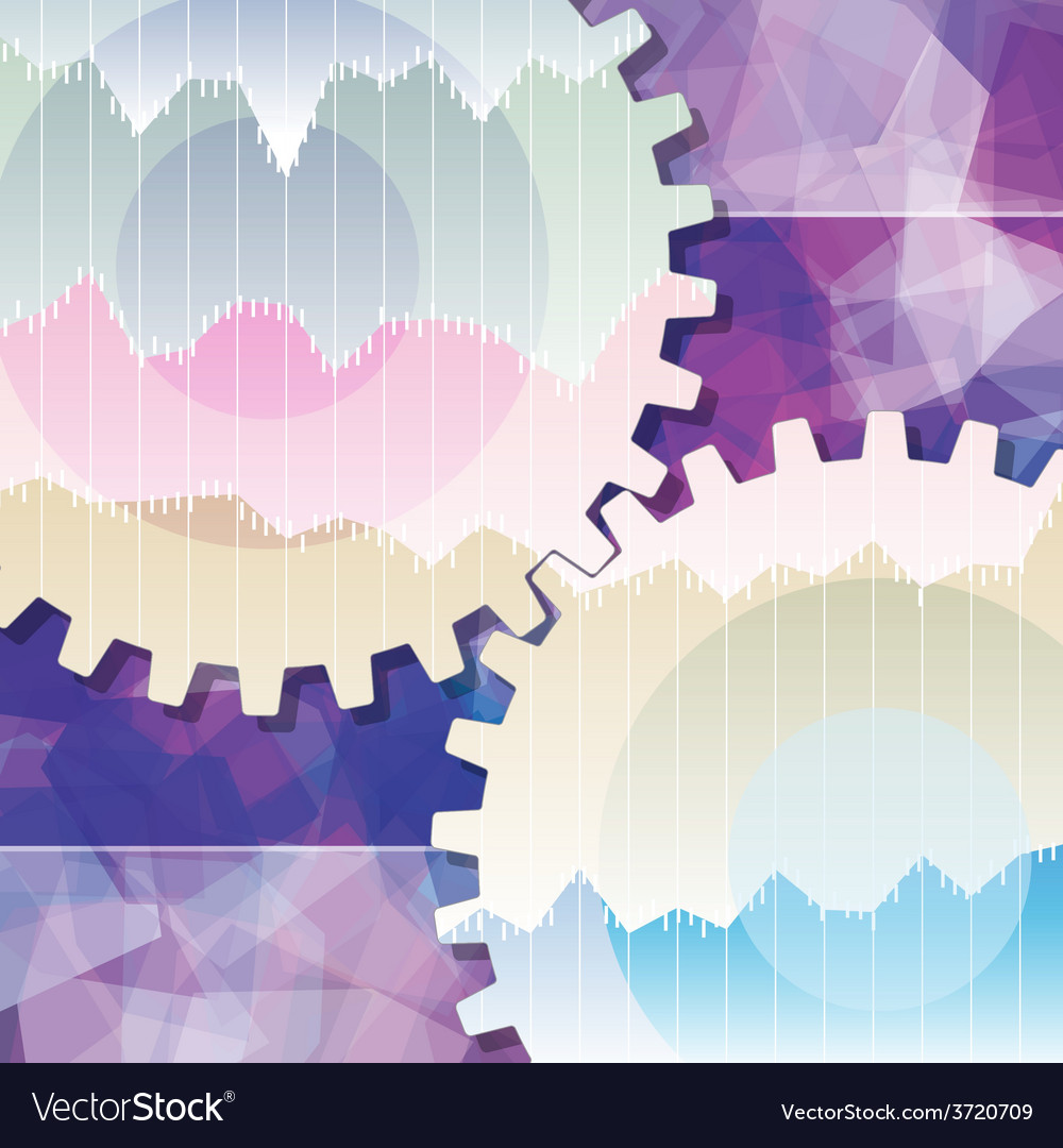 Gears background teamwork business vector | Price: 1 Credit (USD $1)