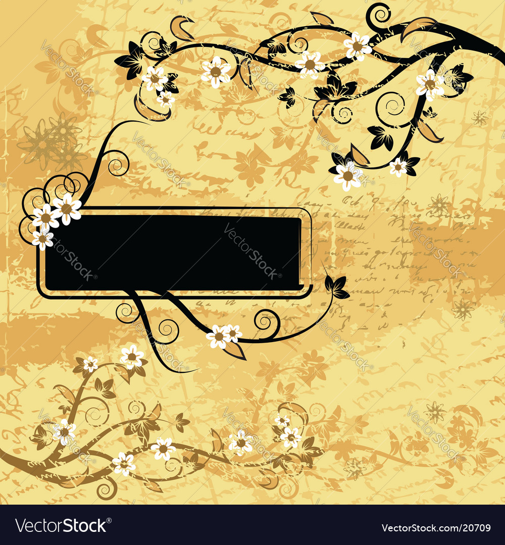 Grunge background floral vector