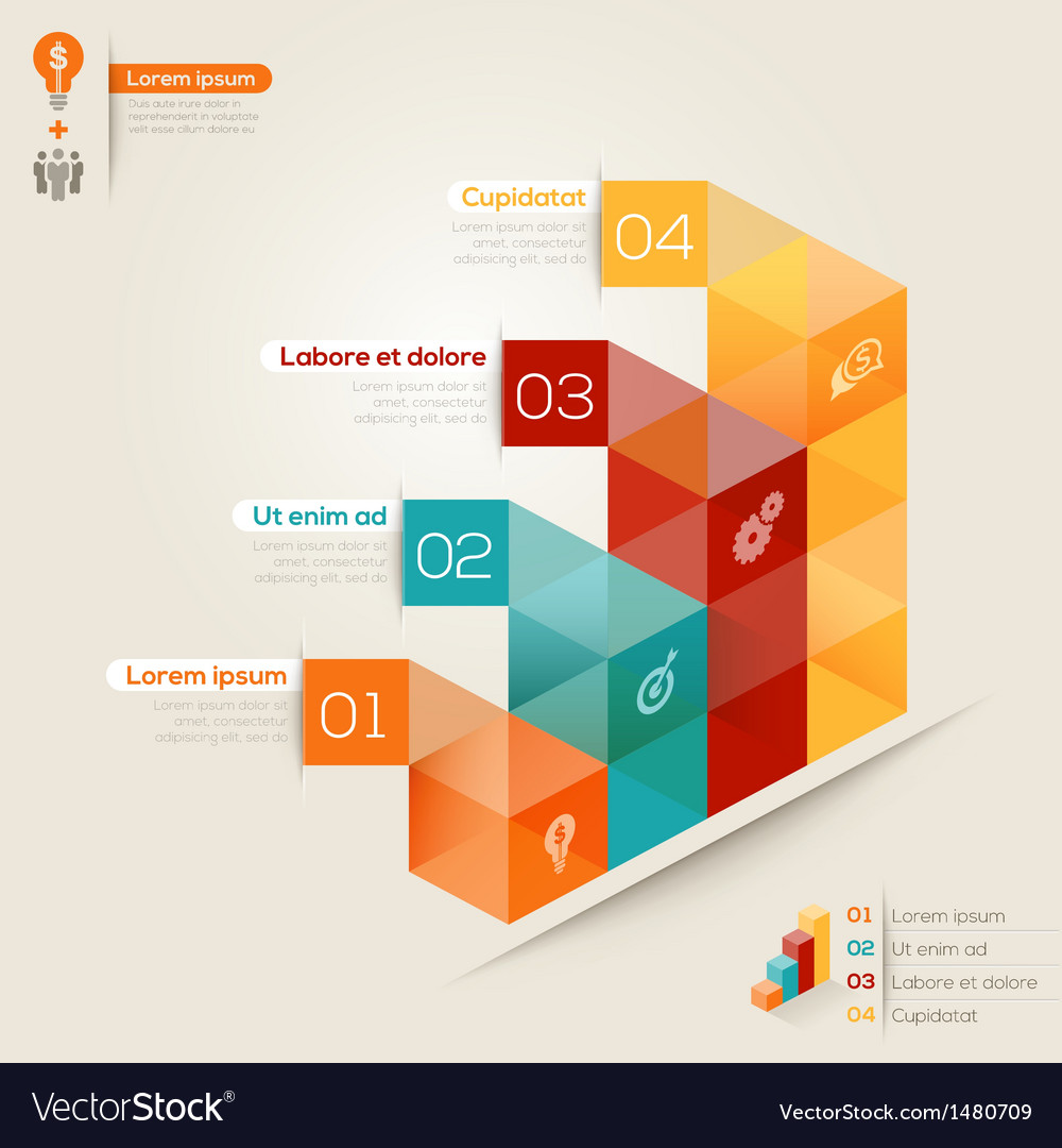 Isometric shape modern style design layout vector   Price: 1 Credit (USD $1)