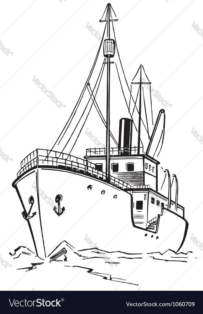 Old icebreaker vector   Price: 1 Credit (USD $1)