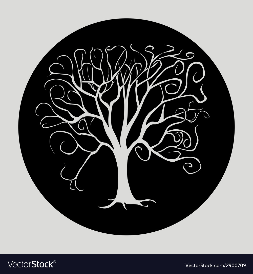 Tree black vector | Price: 1 Credit (USD $1)