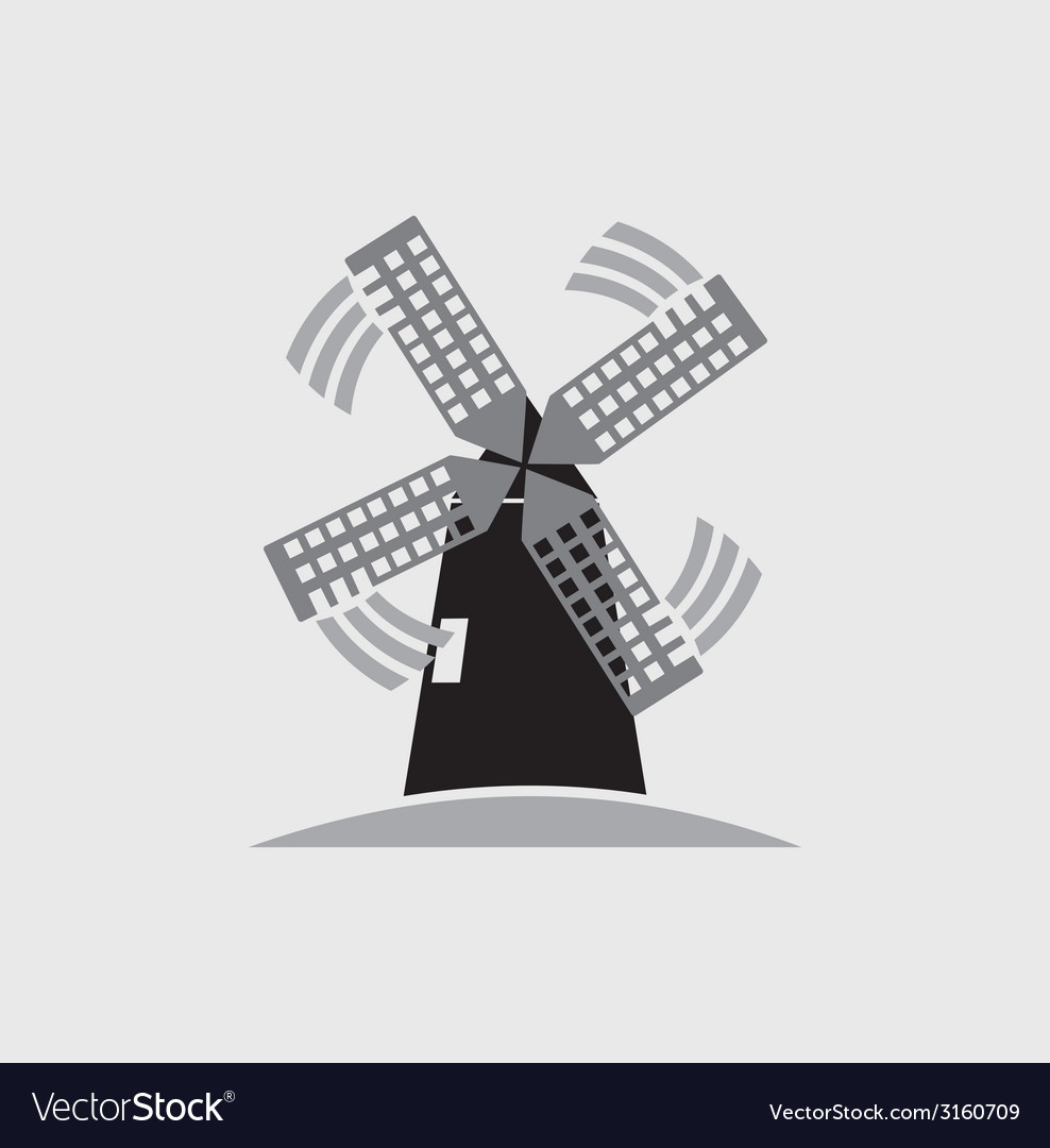 Windmill icon vector | Price: 1 Credit (USD $1)