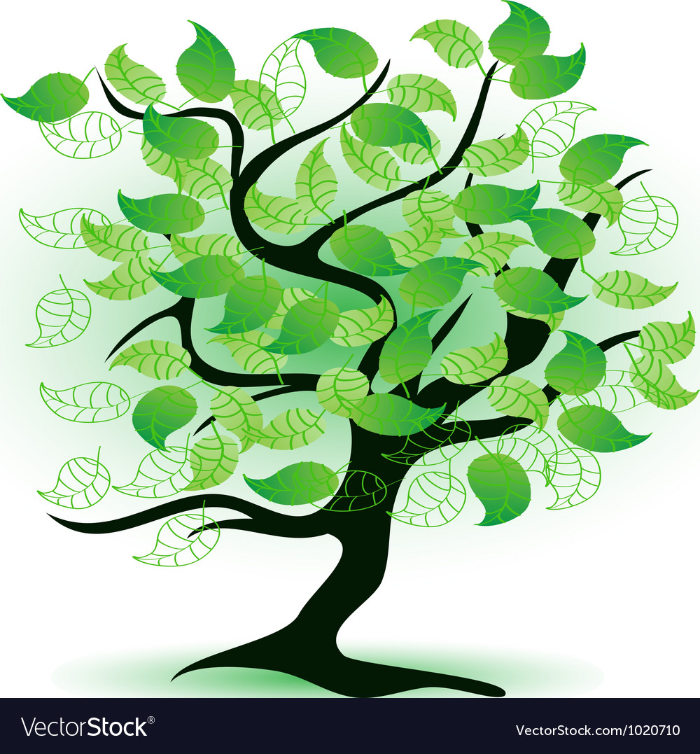 Art green tree vector | Price: 1 Credit (USD $1)