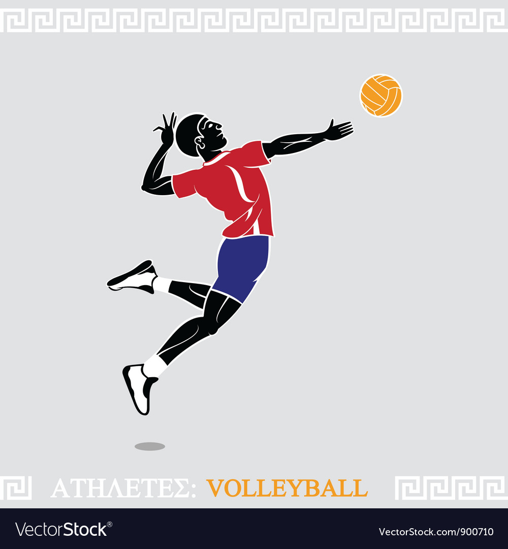 Athlete volleyball player vector | Price: 3 Credit (USD $3)