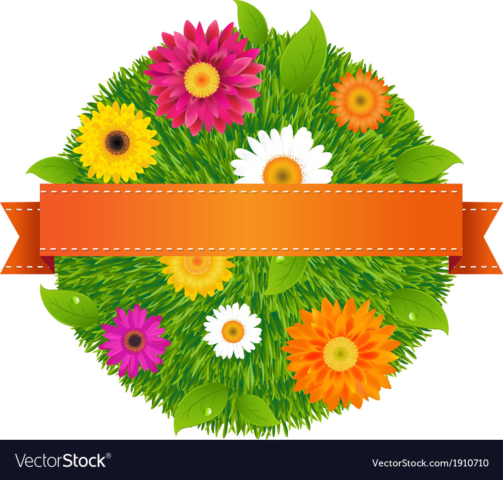 Ball with flowers vector | Price: 1 Credit (USD $1)