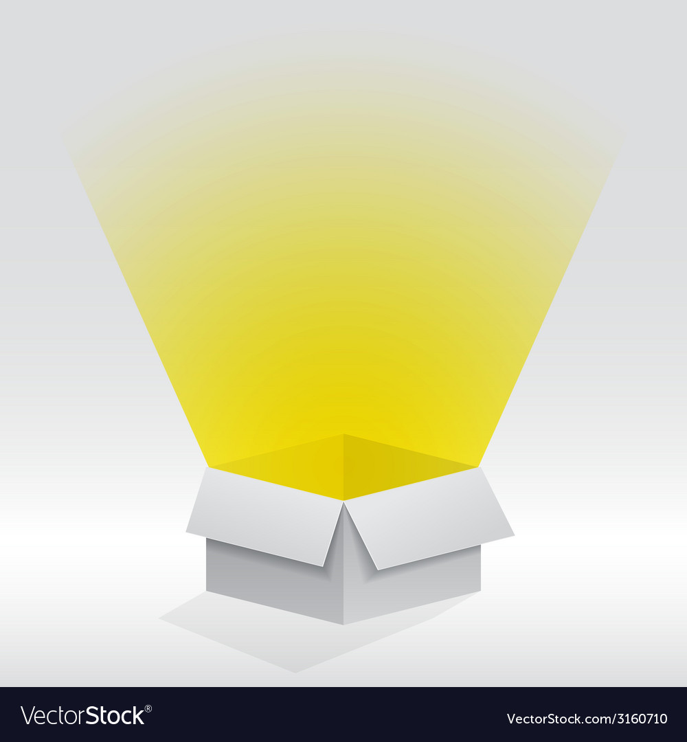 Box with light vector | Price: 1 Credit (USD $1)
