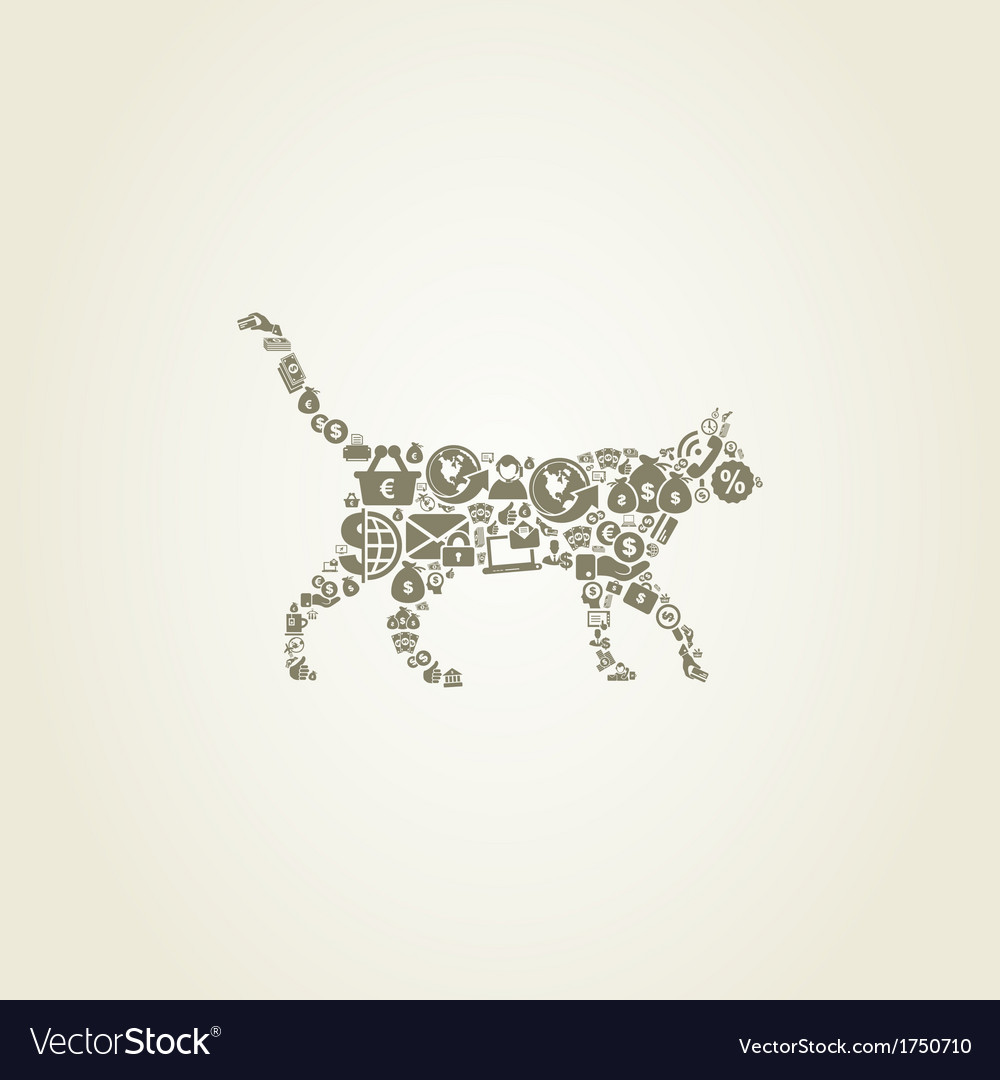 Cat business vector | Price: 1 Credit (USD $1)