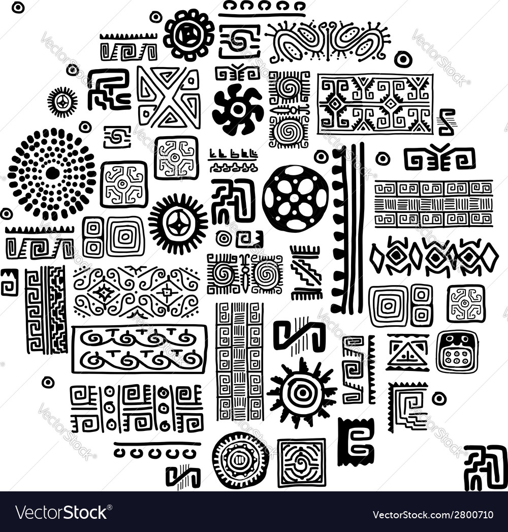 Ethnic handmade ornament for your design vector | Price: 1 Credit (USD $1)