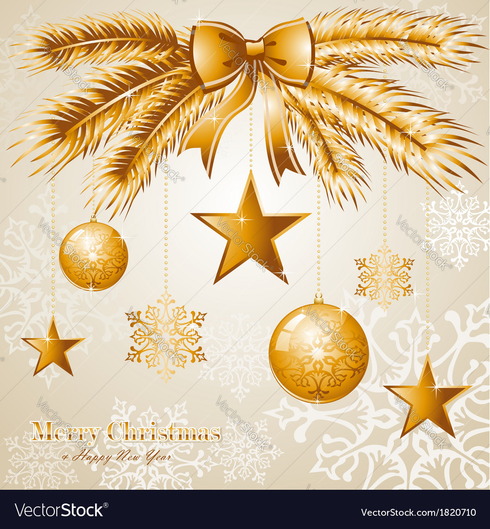 Luxury merry christmas background eps10 file vector | Price: 1 Credit (USD $1)