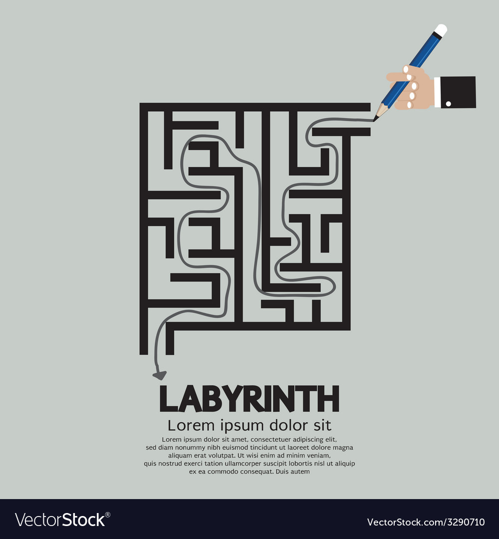 Maze labyrinth graphic vector | Price: 1 Credit (USD $1)