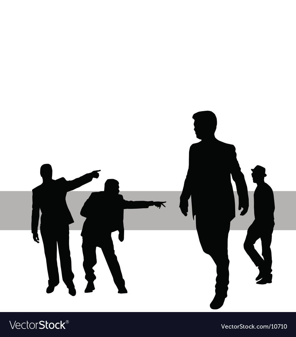 Posing people vector | Price: 1 Credit (USD $1)