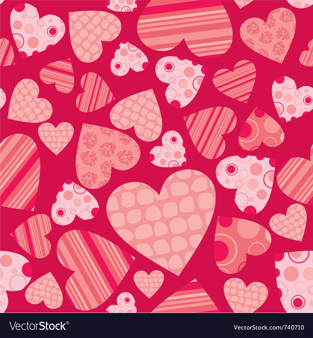 Seamless valentine pattern vector | Price: 1 Credit (USD $1)