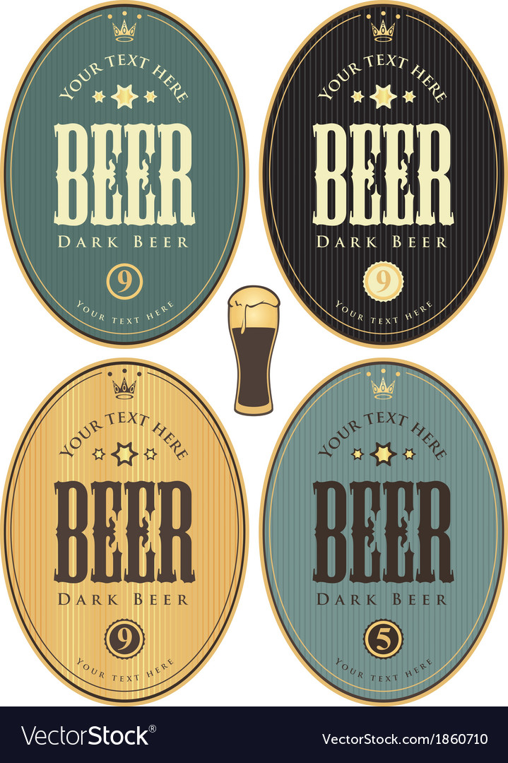 Set beer dark vector | Price: 1 Credit (USD $1)