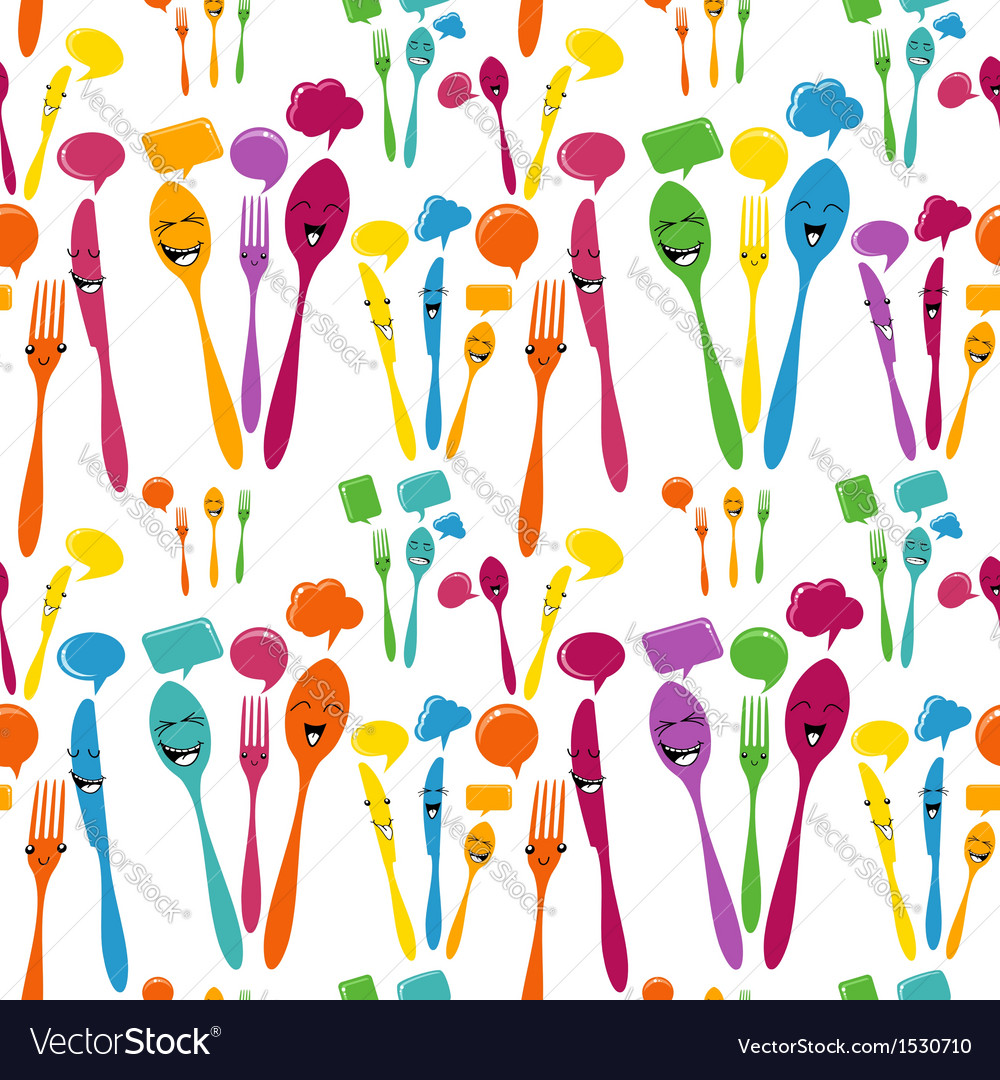 Silverware icons seamless pattern vector | Price: 1 Credit (USD $1)