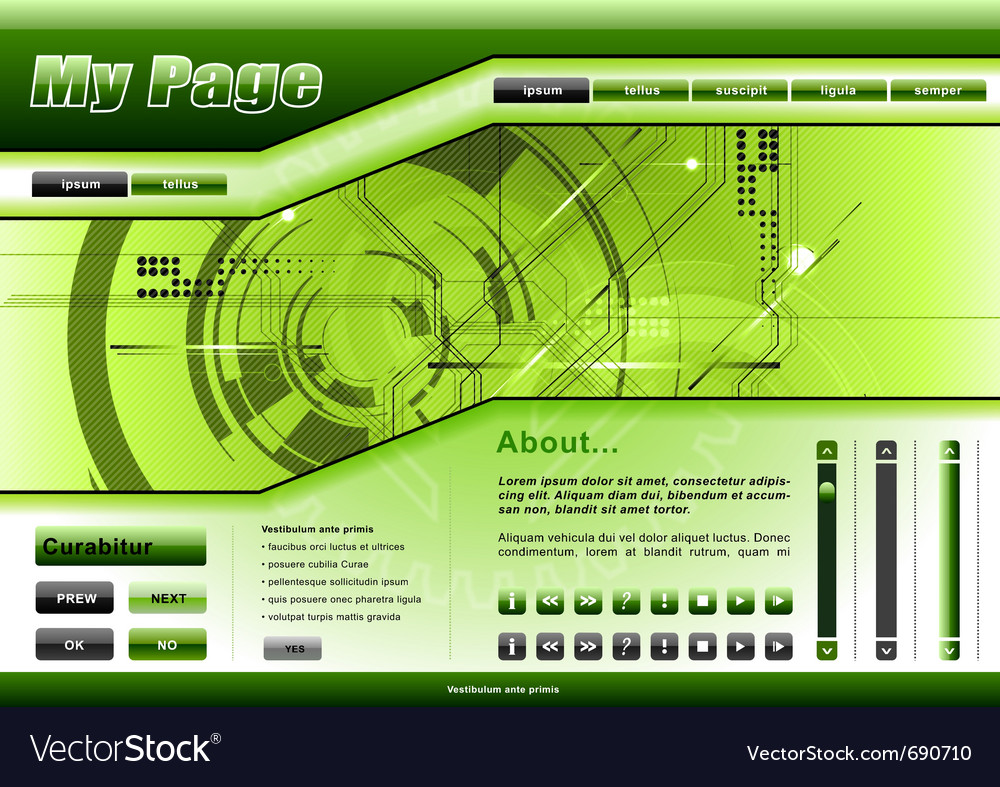 Web template tech theme vector | Price: 1 Credit (USD $1)