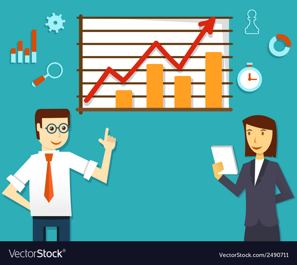 Ecommerce market of web analytics vector   Price: 1 Credit (USD $1)