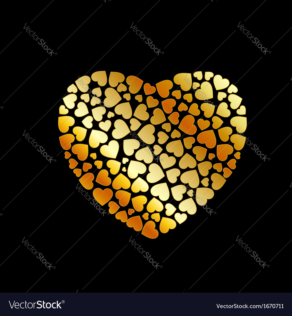 Gold heart fillings vector | Price: 1 Credit (USD $1)