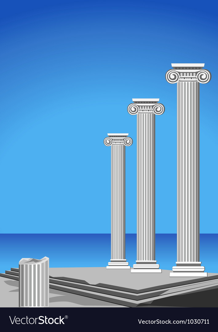 Greek architecture vector | Price: 1 Credit (USD $1)