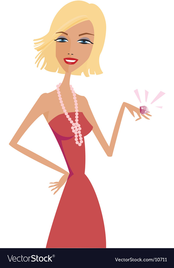 Rich girl vector | Price: 1 Credit (USD $1)