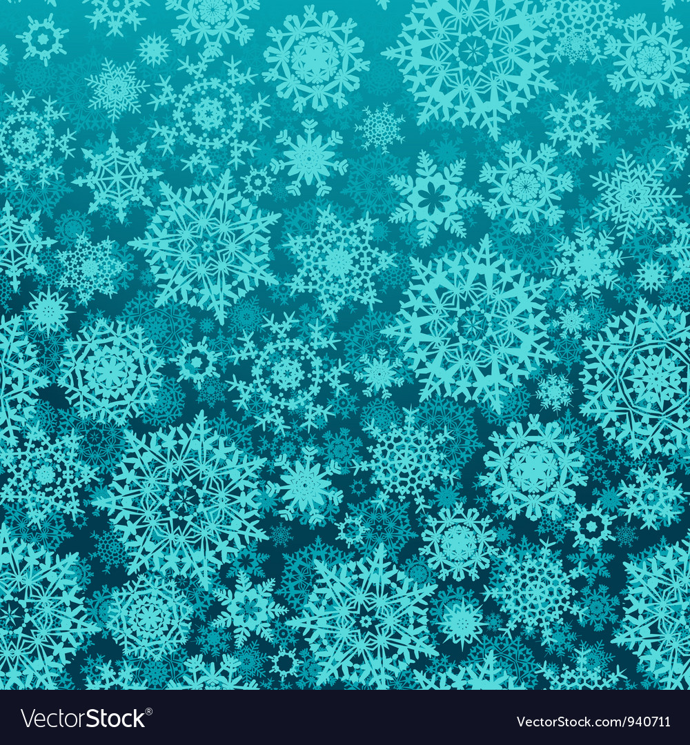 Seamless snow flakes pattern vector | Price: 1 Credit (USD $1)