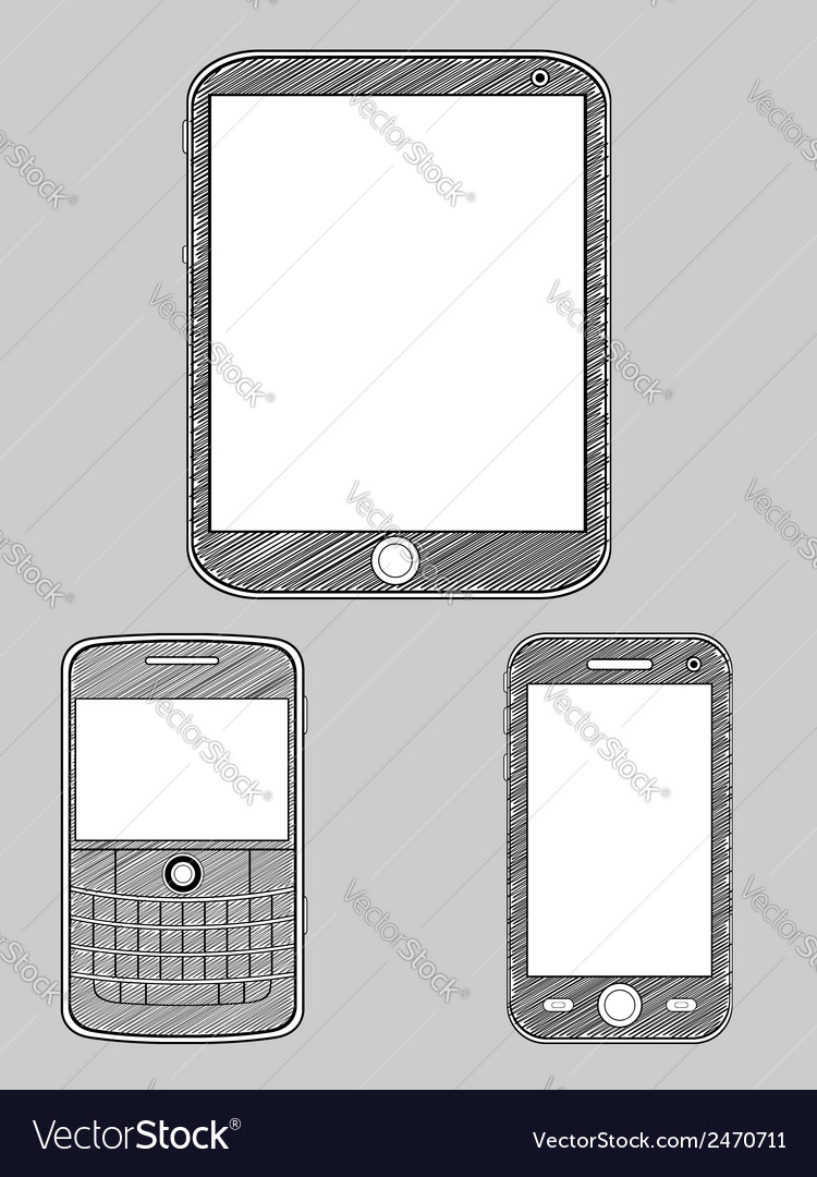 Smartphone sketch vector | Price: 1 Credit (USD $1)