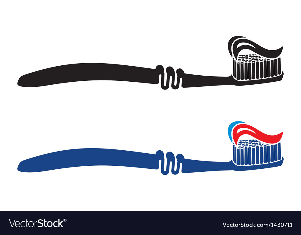 Toothbrush set vector | Price: 1 Credit (USD $1)