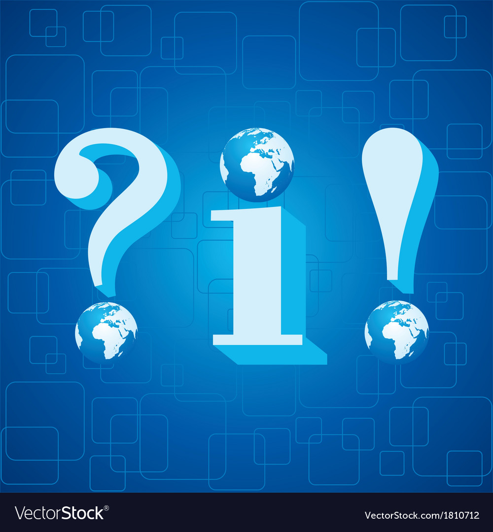 3d blue infoquestion mark and exclamatory mark vector | Price: 1 Credit (USD $1)