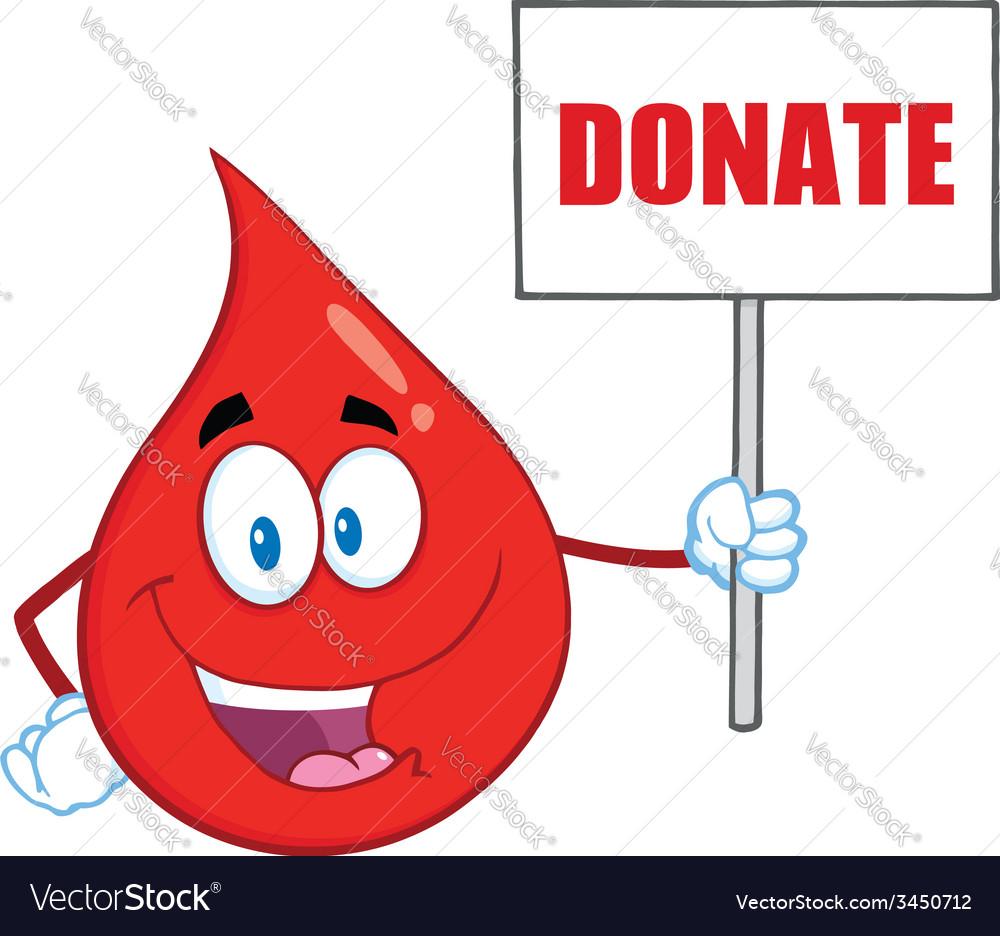 Blood drop cartoon vector | Price: 1 Credit (USD $1)